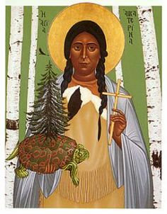 I am seeking the website of the artist who made this beautiful image of The Blessed Saint Kateri Tekwitha.