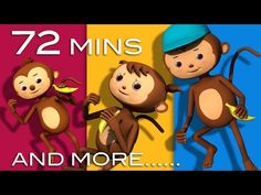 5 Little Monkeys Jumping On The Bed | Plus Lots More Rhymes | 72 Mins from LittleBabyBum! - YouTube