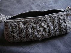 Ravelry: Cabled pencil case pattern by Dissolved Girl