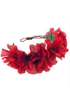 BLAIR Rustic Poppy Crown Headband - SilkFred