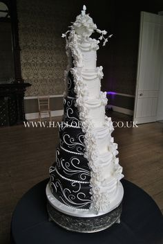 If you are looking a cake for your special day, our bespoke wedding cakes range could be the answer, contact us to book a consultation today Luxury Wedding Cake, Themed Wedding Cakes, Wedding Cakes With Cupcakes, Dream Wedding, Lily Wedding, Fantasy Wedding, Cake Wedding, Black And White Wedding Cake, White Wedding Cakes