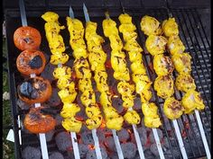 How To Make Chicken Kabob - kabab With Yogurt Marinade (chicken breast and legs) - YouTube