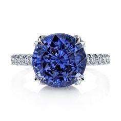 Violet Sapphire & Diamond Ring