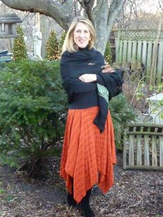 The All Points Skirt made with only 3 rectangles. Rhonda's Creative Life: Fabulous Free Pattern Friday