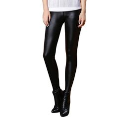 Faux Black Leather Leggings //EVERYTHING for $10.00 or less storewide & FREE Shipping //     #fashionsfor10