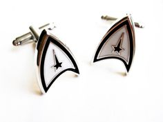 Star Trek Cuff Links   stainless steel by LondonDesign on Etsy, £14.60