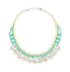 Loft - Women's Jewelry: Earrings, Necklaces, Bracelets, Fashion Jewelry: LOFT - Short Wrapped Green Stone Necklace