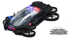 Future police vehicle Hover Car, Hover Bike, Concept Ships, Concept Cars, Futuristic Cars, Futuristic Vehicles, Flying Vehicles, New Drone, Military Units