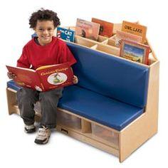 Corner reading nook- with storage tubs