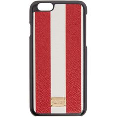Dolce And Gabbana Red and White Striped iPhone 6 Case ($155) ❤ liked on Polyvore featuring accessories and tech accessories