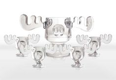 Christmas Vacation Moose Punch Bowl and Moose Mug Set - I absolutely love the punch bowl. I would probably just use one for a glass!!!!!