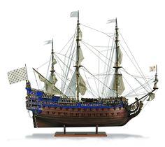 1:70 Soleil Royal scale model ship