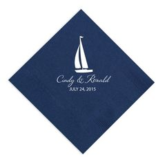 Add an extra touch to your wedding reception with personalized paper napkins. $29.95 for 100