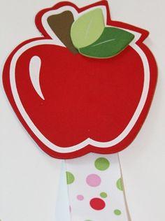 Apple Topped Ribbon Bow Holder - ($7.00)