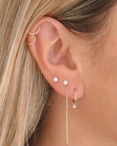 Pretty Ear Piercings, Ear Peircings, Types Of Ear Piercings, Piercings For Girls, Ear Jewelry, Cute Jewelry, Jewlery, Ear Piercing Combinations, Vampire Diaries Jewelry