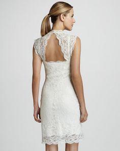 Nicole Miller Cutout-Back Lace Dress - Neiman Marcus
