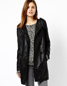 Leather trench, though there in Chicago you'd need a few extra layers right now.
