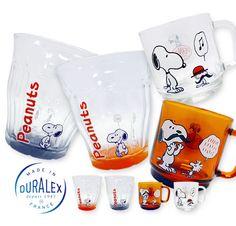 "Peanuts DURALEX Glass (the original goods of ""PLAZA"" shops in Japan)"
