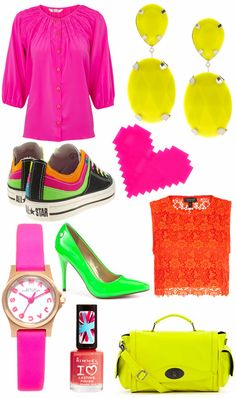 """Neon Fashion, or as my mom would say... """"The 80's are coming back"""""""