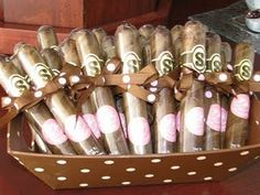 """""""See-gars"""" from See's Candy. Perfect for any celebration. My husband passed these out to friends and people at his office when our girls were born"""