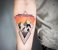 Mountain tattoo by Chris Rigoni