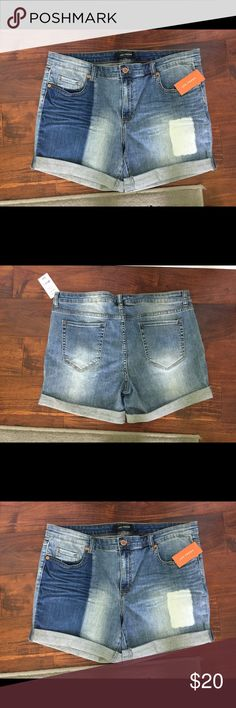 """Joe Fresh Shorts Joe Fresh boyfriend cuffed patchwork denim shorts. 99% cotton and 1% spandex. Waist is approximately 18"""" inseam is approximately 8"""" and length is approximately 17"""". Size 32 (14) Joe Fresh Shorts Jean Shorts"""
