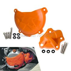36.99$  Buy now - http://dic9z.justgood.pw/ali/go.php?t=32671626768 - Clutch Cover/Water Pump Cover Protector for KTM 350 EXC-F SIX DAYS 2012-2015 2016