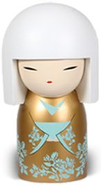 Kimmidolls are collectible figures, like kokeshi dolls that come in different sizes.  This one is Makoto (Sincerity)