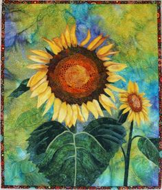 quilting arts patterns | Name: 'Quilting : Sunflowers Art Quilt