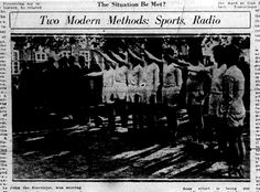 "In January 1936, in the midst of an international debate about sending athletic teams to Berlin's ""Hitler Olympics,"" the LDS Church-owned Deseret News ran a six-column photograph of Nazi-saluting basketball players, along with an article stating that Mormon missionaries were coaching Germany's basketball team, and helping Herr Hitler's team seek a ""Nordic victory"" in the Olympic Games. Mormons, University Of Oklahoma, Lds Church, Basketball Players, Olympic Games, Book Publishing, Olympics, Coaching, January"