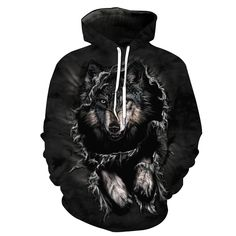 Hoodies for Men presents this quality 2018 Mens hidden Wolf Hoodie. Ideal as a streetwear or designer hoodie or just a casual wolf hoodie. Hoodie Sweatshirts, Tops Tumblr, Hoodies For Teens, Tier Wolf, Streetwear, Wolf Hoodie, Plus Size Hoodies, Hoodie Brands, Men's Clothing