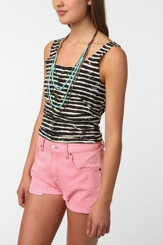 BDG Striped Shirttail Scoop Tank Urban Outfitters $18