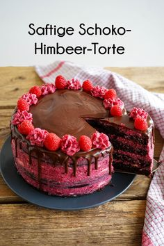Juicy raspberry chocolate cake - Jenny is baking- Saftige Himbeer-Schoko-Torte – Jenny is baking Obviously, I& not the only one who loves … - Chocolate Cookie Recipes, Easy Cookie Recipes, Dessert Recipes, Easter Recipes, Recipes Dinner, Baking Desserts, Dessert Food, Quick Recipes, Beef Recipes