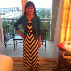 Maxi skirt repurposed as dress. Sweater - Ann Taylor, earrings - Old Navy & all else - WHBM