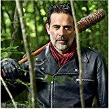 #10: The Walking Dead Jeffrey Dean Morgan as Negan with Lucille resting on shoulder 8 x 10 Inch Photo