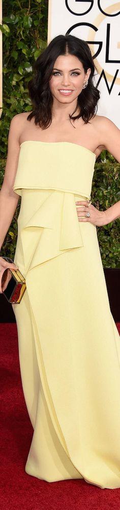 ON THE RED CARPET via LOLO repin by BellaDonna *updated* Jenna Dewan Tatum 2015 Golden Globe Awards
