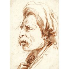 Giovanni Battista Tiepolo VENICE 1696 - 1770 MADRID HEAD OF A MOUSTACHIOED MAN IN A TURBAN