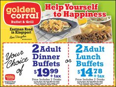 Like Golden Corral coupons? Try these...
