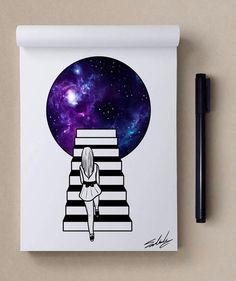 Good noite - Estrelas temáticos Ilustrações de Muhammed Salah | Arte e Design