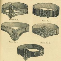1893. Group of Fancy Belts | These would look amazing with modern clothing, too!