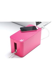 Pinkki CableBox Bluelounge, pieni Pinkki 2kpl 26€/kpl Vinyl Record Storage, Lp Storage, Storage Boxes, Hide Cable Box, Hide Cables, Pallet Tv Stands, Tv Stand Console, Cable Organizer, Crate And Barrel