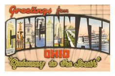Image detail for -Greetings from Cincinnati, Ohio Poster at AllPosters.com