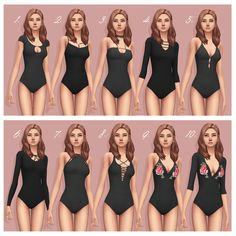 Cute Sims 4 Custom Content One Piece Body Suit!