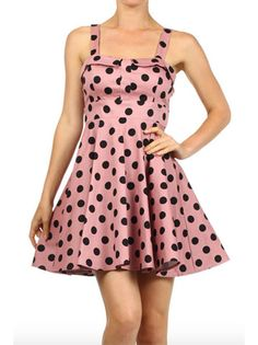 Blush Polka Dot Pin Up Dress   Smak Parlour Boutique