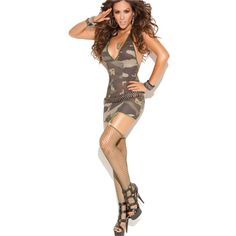 Camo Hottie Mini Dress $29.95 or have almost all the single items for 50% OFF + Free Shipping + DVDS and Attractive GIFT when you use the code PINIT @ checkout at www.AdamAndEve.com