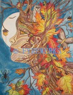 beautiful autumn dryad print from an amazing artist