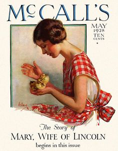 McCall's Magazine cover from May 1928 by American Illustrator Neysa McMein (1888-1949)