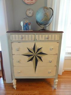 This dresser was not that beautiful in person..dull, dried with lots of old glue that I had to carefully scrap off.