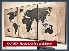 Office Wall Decor Home Wall Decor Wood Wall Art Wooden Map World Map Office Decor Wall Decor For Business Carved Unique Luxury Decor