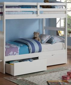 Keep a little one's room from getting too cluttered thanks to these under bed drawers. Stash away toys, clothes or extra bedding in a convenient location that also adds to a room's décor.